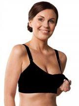 Carriwell Varrásnélküli, betétes szoptatós melltartó XL - fekete