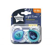 Tommee Tippee Night játszócumi 6-18hó - 2db