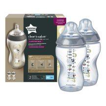 Tommee Tippee Közelebb a természeteshez BPA-mentes cumisüveg 340ml duo - színes