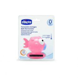 Chicco BabyMoments halacskás vízhőmérő - pink