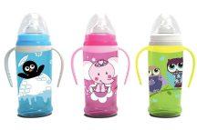 Baby Care itató puha ivócsörrel és fogantyúval 350ml - vegyes színekben