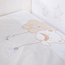 Albero Mio 5 részes ágynemű - H185 Macik csillaggal bézs-fehér