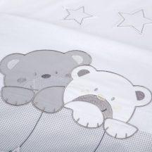 Klups 2 részes ágyneműhuzat - Macik csillaggal szürke-fehér