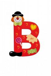 Sevi fa betűk - B - piros Bohóc