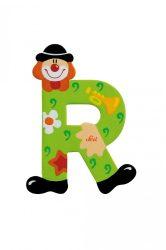 Sevi fa betűk - R - zöld Bohóc