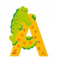 Sevi fa betűk - A - Aligátor sárga