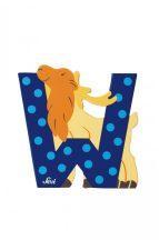 Sevi fa betűk - W - Wapiti kék