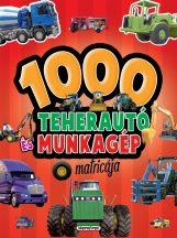Napraforgó 1000 teherautó és munkagép matricája - piros