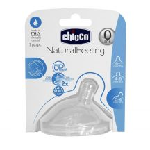 Chicco NaturalFeeling ferde etetőcumi, lassú folyású 0m+