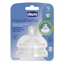 Chicco NaturalFeeling etetőcumi, változtatható folyású 4m+ (2db)