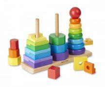 Melissa & Doug Fa készségfejlestő játék, Montessori tornyok