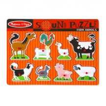 Melissa & Doug Hangos puzzle, Farm állatai