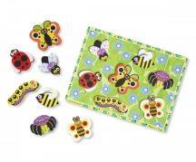 Melissa & Doug Fa készségfejlestő játék, könnyen megfogható puzzle rovarok