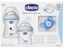 Chicco Natural Feeling ajándék szett - Kék