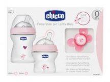 Chicco Natural Feeling ajándék szett - Rózsaszín