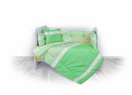 Lorelli 5 részes ágyneműgarnitúra - Little Ducks green   !! kifutó !!