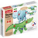 Quercetti - Techno krokodilos és elefántos 3D Puzzle