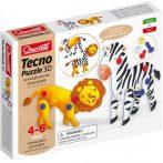 Quercetti - Techno oroszlános és zebrás 3D Puzzle