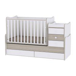 Lorelli Maxi Plus kombi ágy 70x160 - White & Amber