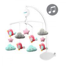 BabyOno zenélő forgó utazóágyra és kiságyra felhők és madarak