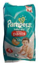 Pampers Baby-Dry Nappy Pants 4 pelenka 9-15kg 4db - 18-as csomag