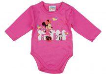 Asti Disney Minnie cicás hosszú ujjú baba body rózsaszín 50