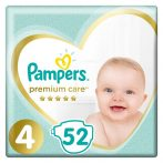 Pampers pelenka Prem ValuePack S4 52