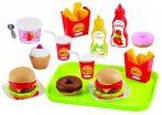 Ecoiffier Fast food szett 25 db-os