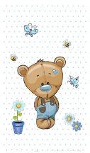 Best4Baby Maci kisfiú kék pöttyös fényáteresztő, muszlin babafüggöny