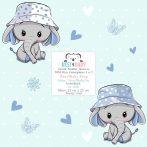 Best4Baby Elefánt kisfiú villanykapcsoló matrica - fehér