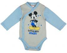 Asti Disney Mickey hosszú ujjú baba body melír/k.kék 56