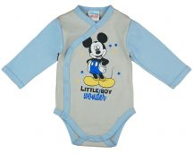 Asti Disney Mickey hosszú ujjú baba body melír/k.kék 62