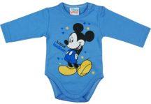 Asti Disney Mickey hosszú ujjú baba body kék 62