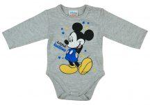 Asti Disney Mickey hosszú ujjú baba body melír 68