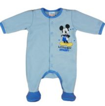 Asti Disney Mickey belül bolyhos hosszú ujjú rugdalózó tavasz v kék 68