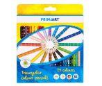 Prima Art háromszögletű színes ceruza - 24 db