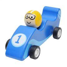 Lendkerekes versenyautó (kék)