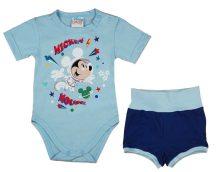 Asti 2 részes rövidnadrágos kisfiú nyári szett kék 68