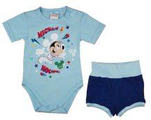 Asti 2 részes rövidnadrágos kisfiú nyári szett kék 56