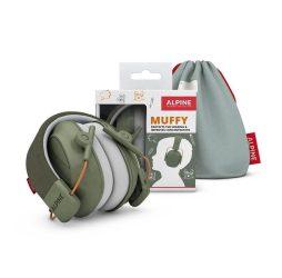 Alpine Muffy - gyerek hallásvédő fültok - zöld