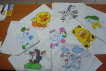 Babaház Textilpelenka 2db-os mintás